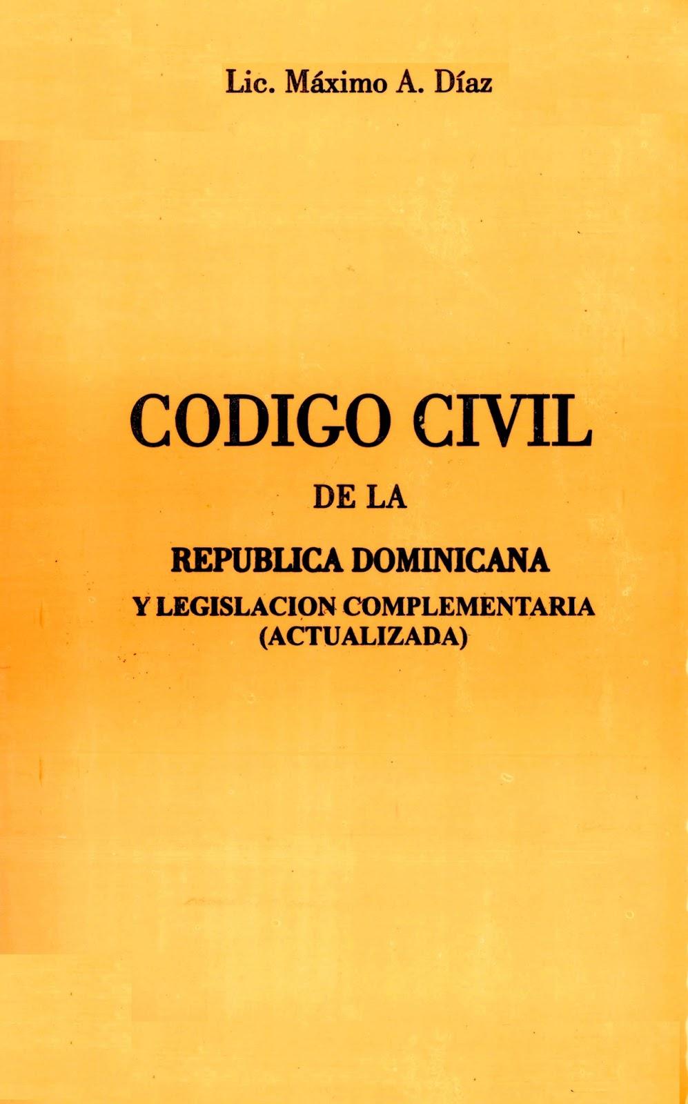 Codigo Civil Dominicano | Carlos Felipe Law Firm